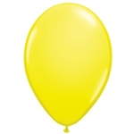 Yellow Latex Balloons (6/pkg) will draw attention to any event! Create vibrant table displays utilizing an array of solid color balloons. These helium quality balloons measure 11 inches when fully inflated. Package of 6 balloons.