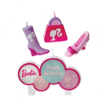Barbie Candle Set (4/pkg)