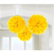 Sunshine Yellow Fluffy Tissue Decoration