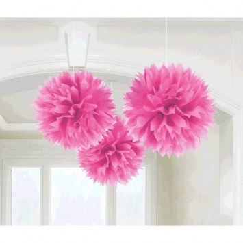 Bright Pink Fluffy Tissue Decoration
