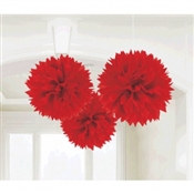 Apple Red Fluffy Tissue Decoration