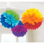 Rainbow Fluffy Tissue Decoration
