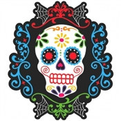 Day of the Dead Skull Cutout