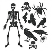 Glittered Assorted Halloween Cutouts