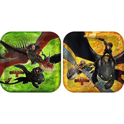 How to Train Your Dragon Dessert Plates