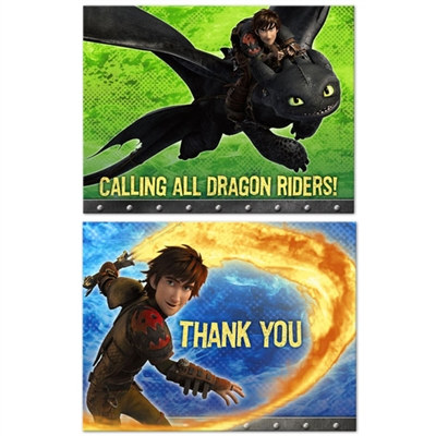 How to Train Your Dragon Invitations
