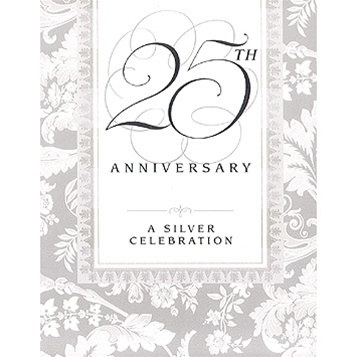 25Th Anniversary Invitations - Partycheap