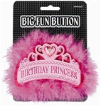 Birthday Princess Button (1/pkg)