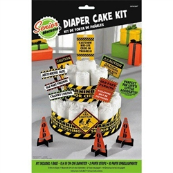 The Adult Diaper Cake Decorating Kit is a hilarious gag gift for that over-the-hill person. With signs like Old Fart Parking, Arthritis Ave and Old Fart Freeway, if you supply the adult diapers, these little decorations will create a hysterical display.