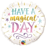"The Magical Day Balloon 18"" measures 18 inches when fully inflated. It's vibrant colors and words of encouragement will bring a smile to everyone's face! Contains one per package. No returns. *Do not over inflate!"