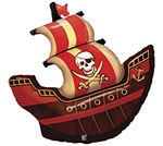 Jumbo Pirate Ship Mylar Balloon