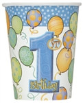 Blue 1st Birthday Hot/Cold Cups (8/pkg)