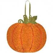 Glitter Pumpkin Sign