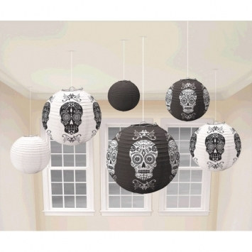 Day of the Dead Paper Lanterns (6/pkg)