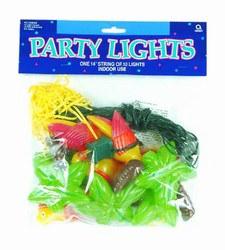 Luau Party Lights, 14ft String with 10 Lights