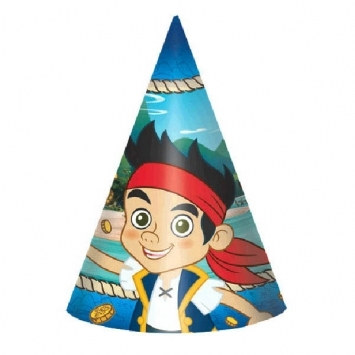 Jake and the Neverland Pirates Party Hats (8/pkg)