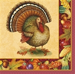 Festive Turkey Beverage Napkins (16/pkg)