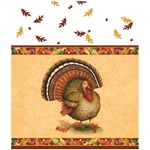 Festive Turkey Plastic Tablecover