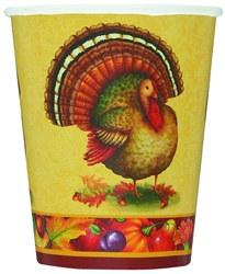 Festive Turkey Hot/Cold Cups (8/pkg)