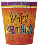 Lively Birthday Hot/Cold Cups (8/pkg)