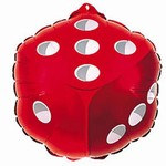Red Dice Mylar Balloon