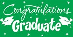 Green Congratulations Graduate Gigantic Sign