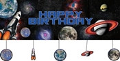 Happy Birthday Space Banner
