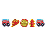 Fire Truck Birthday Party Garland