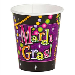 Mardi Gras Beads Hot/Cold Cups (8/pkg)