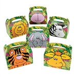 Cardboard Zoo Animals Treat Boxes
