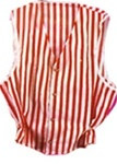 Red and White Striped Vest