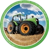 The Tractor Time Dinner Plates are perfect for anybody that loves the farming way of life. Young and old alike can appreciate the big green tractor printed on the center of these coated, round paper plates. Eight plates per package.