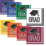 These Graduation Luncheon Napkins are available in colors. Choose the colors of your graduate's school, and you'll receive a package containing 36 2-ply paper napkins for your event.  We also have matching plates!