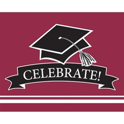 These burgundy graduation invitations will co-ordinate with the graduate's school colors. 25 invitations with color matching envelopes are included in each package. Invitations measure 4 x 6.