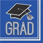 Graduation Beverage Napkins - Blue