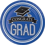 Congrats Grad! Serve up your graduation party food on these dinner sized paper plates. Comes in packages of 18.