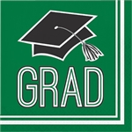 Graduation Beverage Napkins - Green