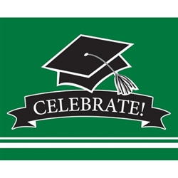 These green graduation invitations will co-ordinate with the graduate's school colors. 25 invitations with color matching envelopes are included in each package. Invitations measure 4 x 6