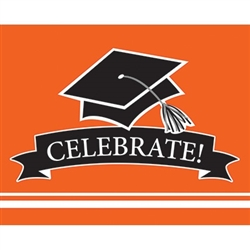 These orange graduation invitations will co-ordinate with the graduate's school colors. 25 invitations with color matching envelopes are included in each package. Invitations measure 4 x 6.