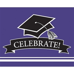 These purple graduation invitations will co-ordinate with the graduate's school colors. 25 invitations with color matching envelopes are included in each package. Invitations measure 4 x 6.