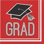 Graduation Beverage Napkins - Red