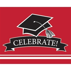These red graduation invitations will co-ordinate with the graduate's school colors. 25 invitations with color matching envelopes are included in each package. Invitations measure 4 x 6.