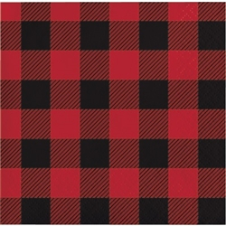 Set your drink down on one of these Buffalo Plaid Beverage Napkins at the party. Don't risk getting a dreaded ring on an important piece of furniture! Each 2-ply napkin measures 9-4/5 inches by 9-3/4 inches. Comes 16 per package.