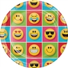 The Emojions Dinner Plates feature a multitude of Emoji characters printed on these round 9-inch plates. Each package contains eight coated paper plates. Matching tableware and accessories are available. The quirky characters will make you LOL.