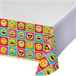 The Emojions Tablecover will keep your tabletops protected from spills and messes, while giving everybody something to LOL about. Each 54 x 102 plastic cover is printed with a multitude of colorful Emojion characters. One per pacakage.