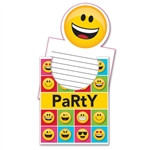 The Emojions Invitations will set the tone for your event! Guests will surely smile when they are greeted with the Emoji characters printed on these event invitations. Package of eight invitations and envelopes.