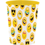 The Emojions Plastic Cup 16 oz is the perfect accessory for the Emoji lover. This plastic cup features a multitude of different Emoji characters printed against a white background.  Perfect for cold beverages or even snacks! One per package.