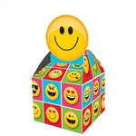 Emojion Favor Boxes are the perfect take-home accessory for your Emoji theme party. These  favor boxes are printed with a multitude of happy Emoji characters and hold candies, treats, and toys for your guests. Eight per package.