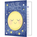 To the Moon and Back Invitations will provide your baby shower guests with a hint to the theme of the upcoming celebration.  Eight colorful invitations and eight white envelopes are included in each package. Designated areas for notating party details.