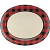 Serve up some hearty portions on one of these Buffalo Plaid Oval Platters! Each platter measures in at 10 inches by 12 inches. These platters are very sturdy, so you can trust them with all of your delicious food! Comes eight per package.